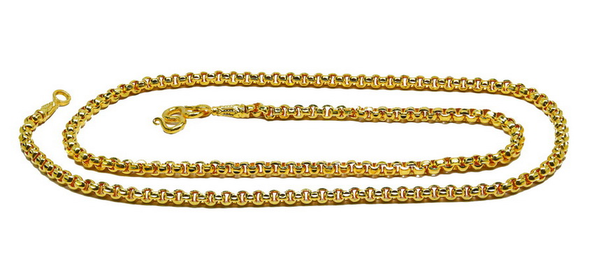Customer review of 2 1/2 Baht DC 23k gold rolo chain